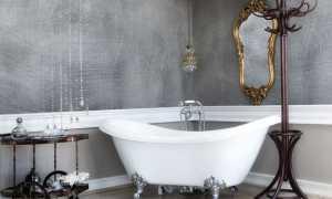 Влагостойкая декоративная штукатурка в ванной комнате – виды и особенности
