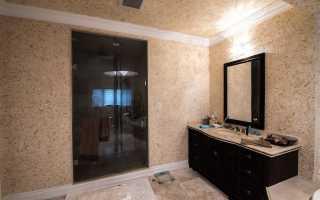 Можно ли использовать жидкие обои для стен ванной комнаты