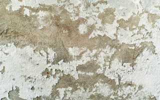 Что делать если со стен сыпется штукатурка