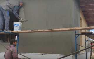Штукатурка по осб плите на фасаде здания