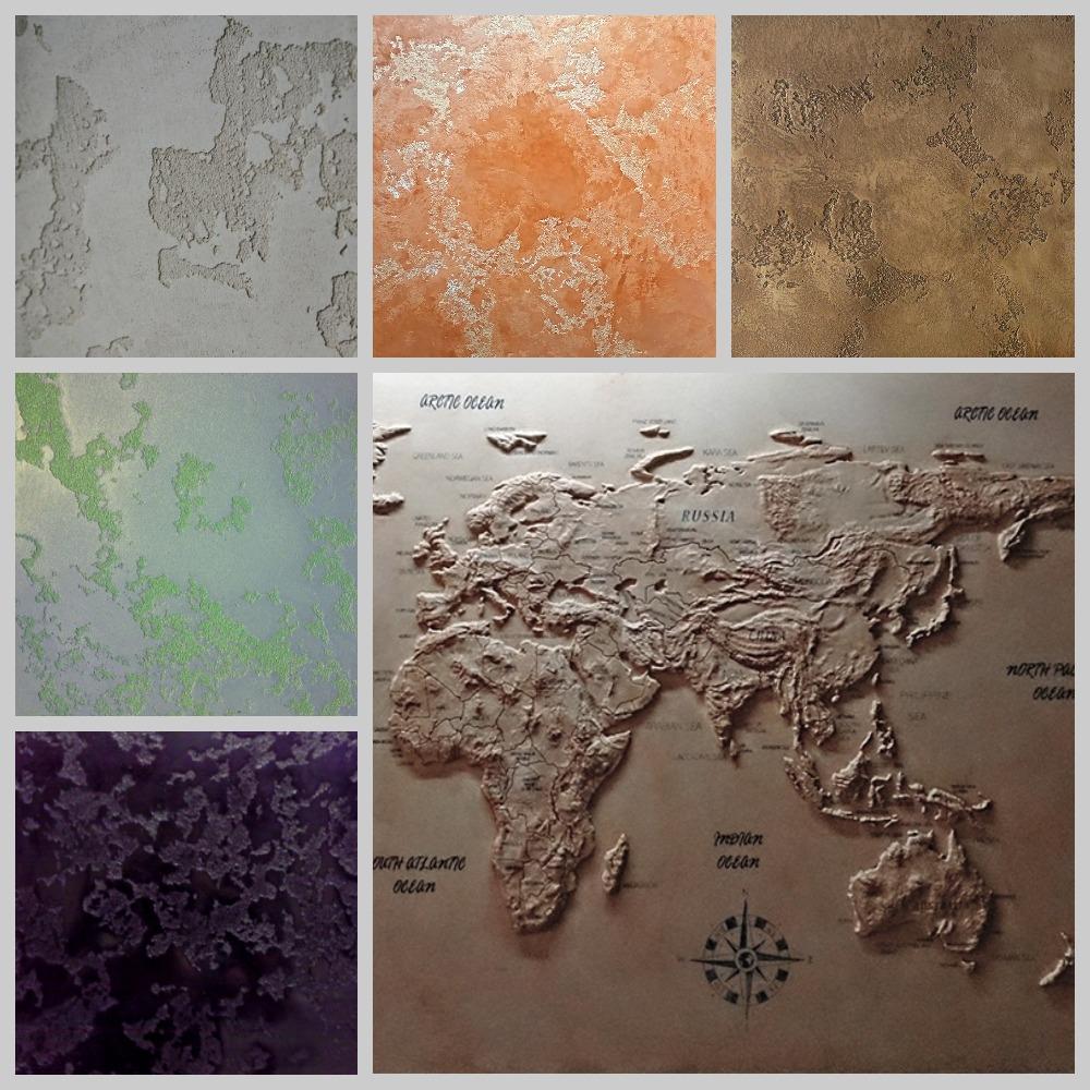 декоративная штукатурка карта мира