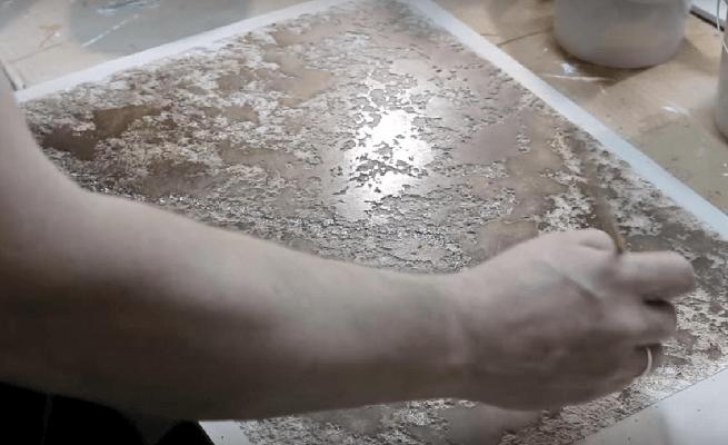 декоративная штукатурка карта мира техника нанесения