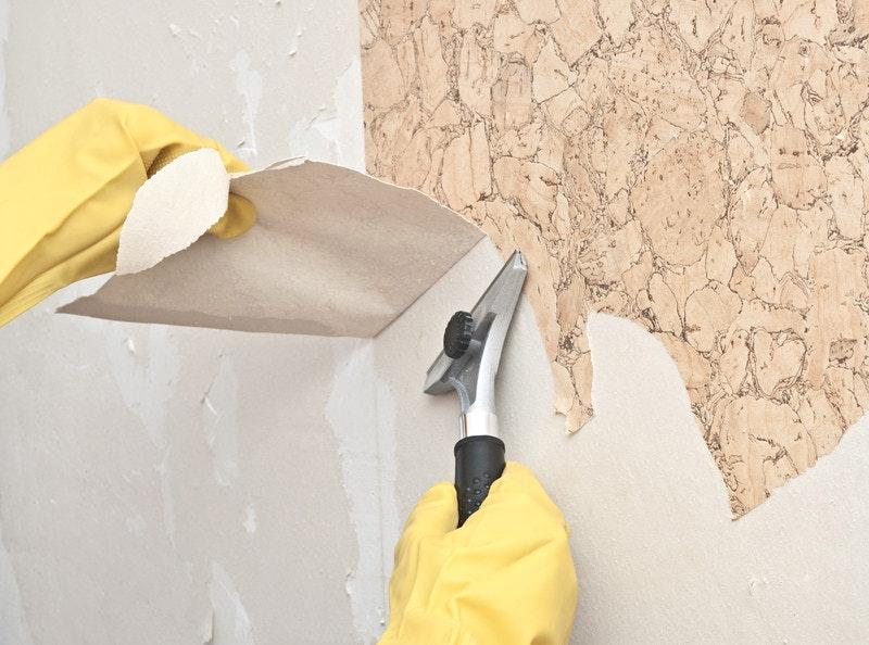 очистка стен от обоев