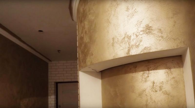 декоративная штукатурка в коридоре_4