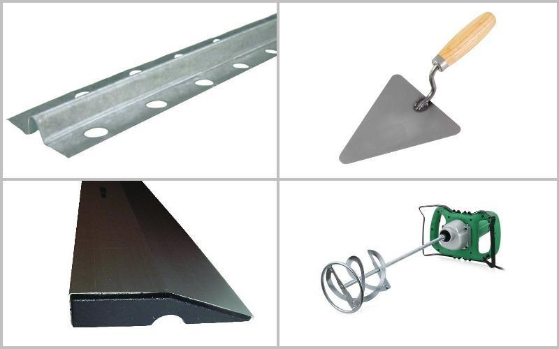 инструмент для нанесения цементной штукатурки