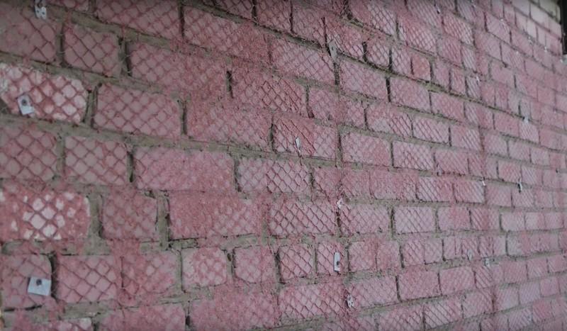 установка сетки с бетонконтактом на фасад