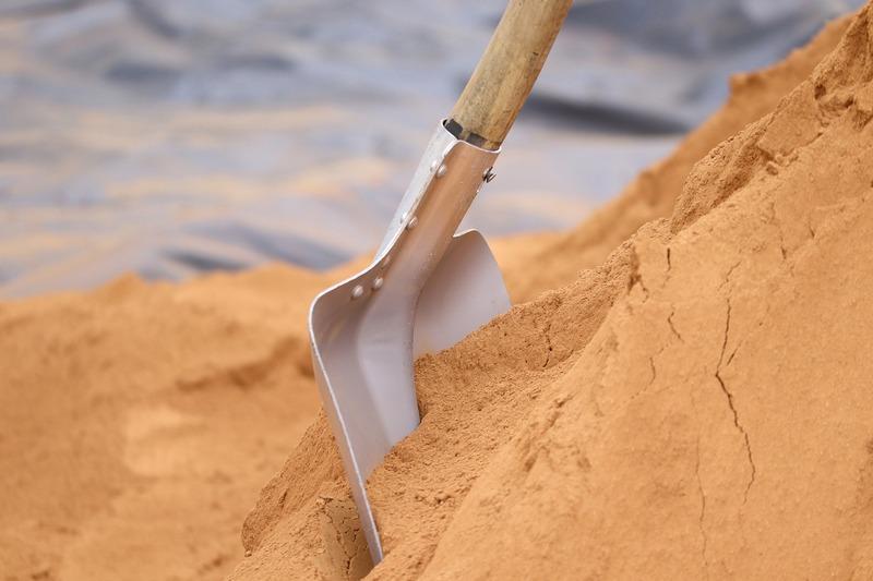 чистый песок