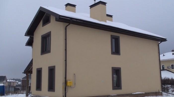 дом в силикатной штукатурке