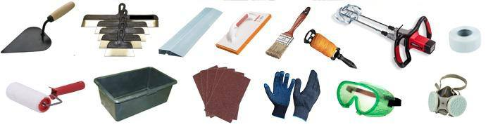 инструменты и материалы для штукатурки