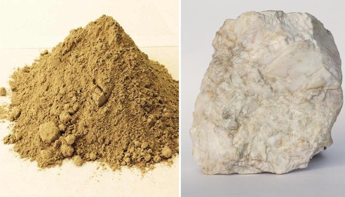 Баритовый камень и песок