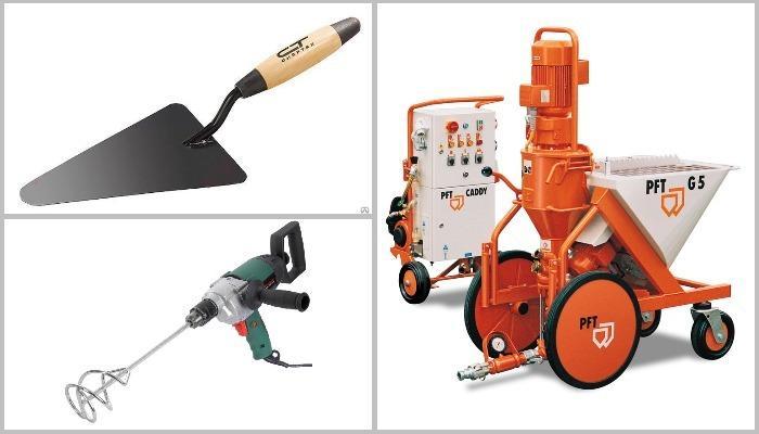 инструменты для нанесения санирующей штукатурки