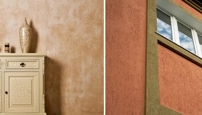 штукатурка внутренних стен и фасада