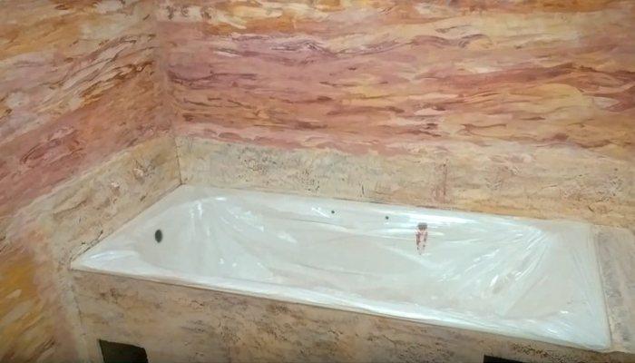 венецианская штукатурка в ванной комнате