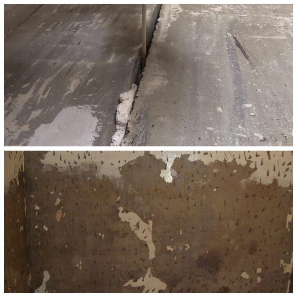 запенивание бетонных плит и нанесение насечек