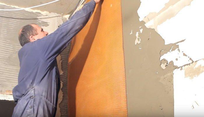 Крепление штукатурной сетки
