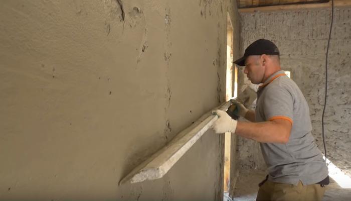 Штукатурка стен внутри гаража