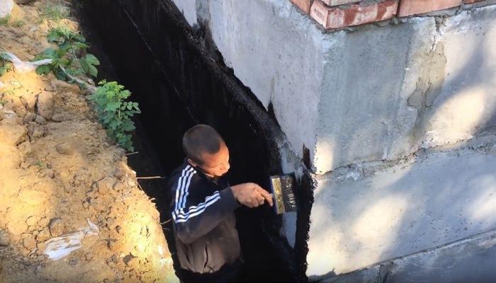 гидроизоляция внешней стены