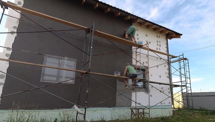 оштукатуривание дома