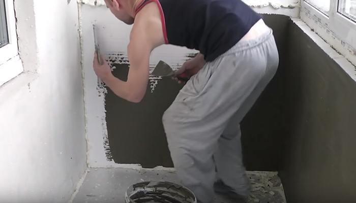 оштукатуривание пенопласта внутри помещения