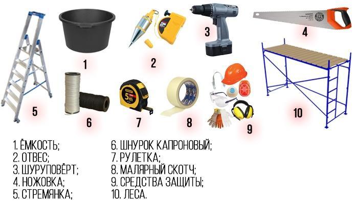 Инструменты для набивки дранки