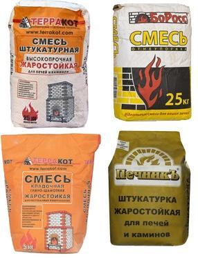 Штукатурные смеси для печей