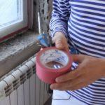 Оклеивание рамы малярным скотчем