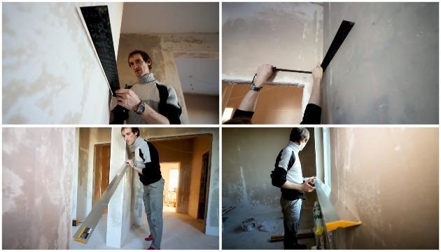 Проверка плоскости стен