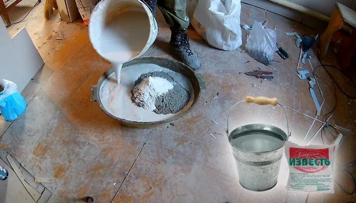 Штукатурный раствор с хлорной водой