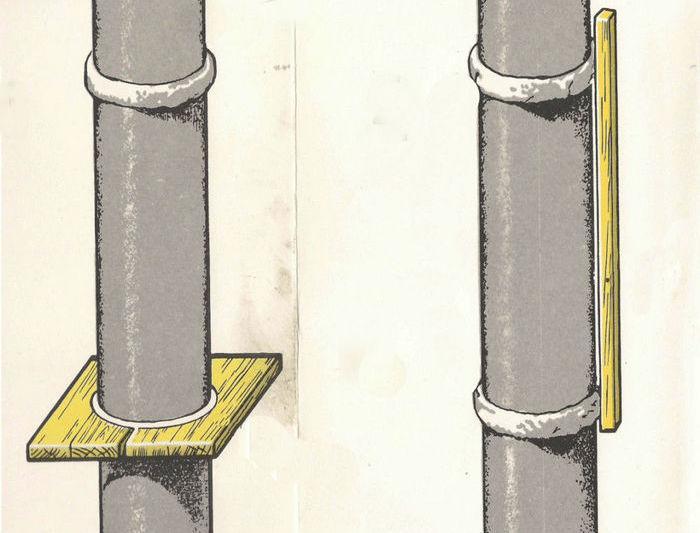 оштукатуривание колонн по маякам