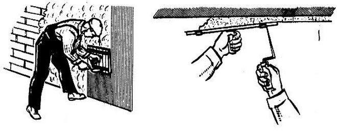 намазывание штукатурки соколом