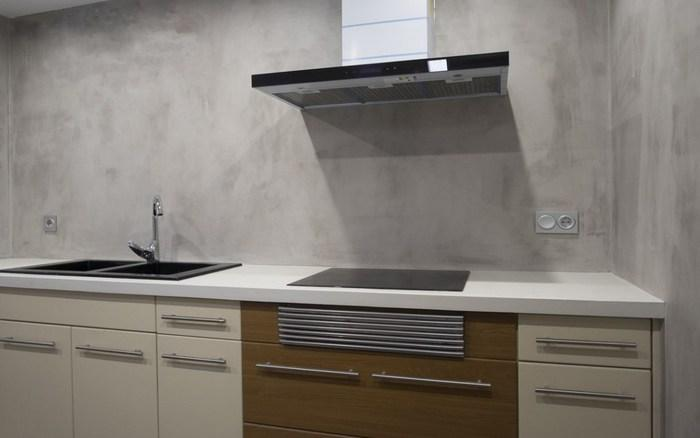 микроцемент на кухне