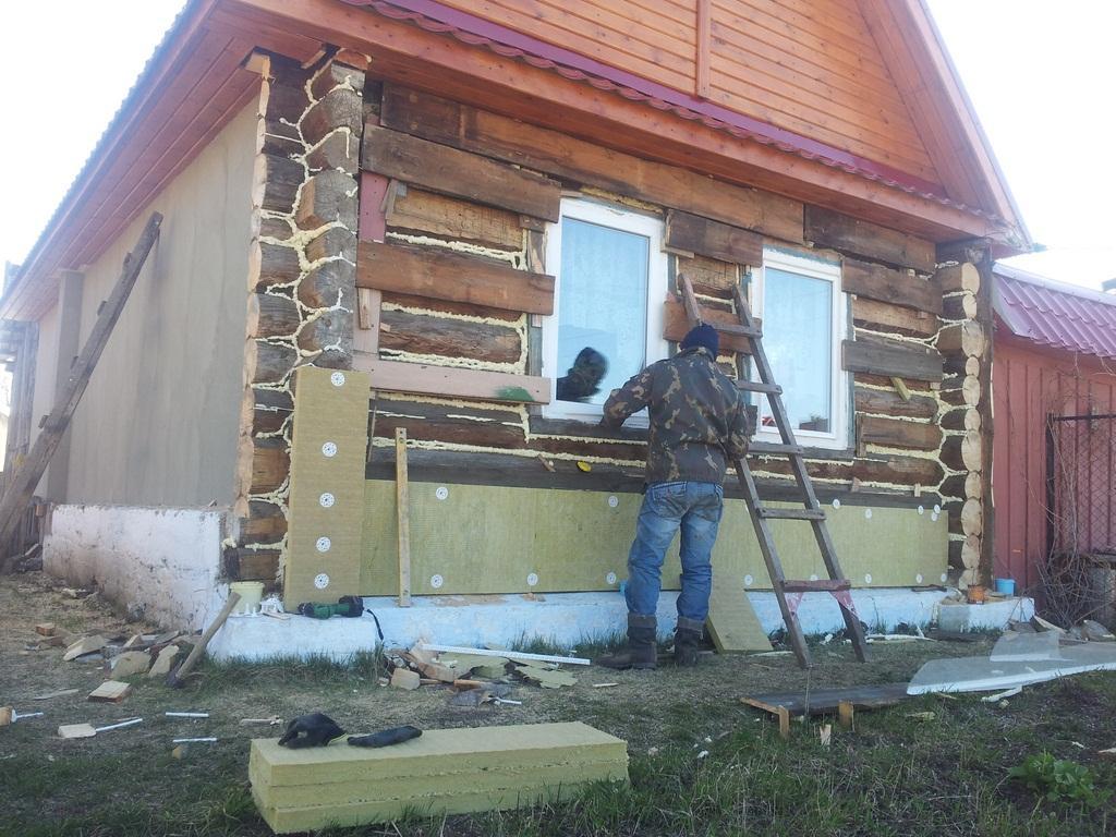 технология мокрого фасада для деревянного дома