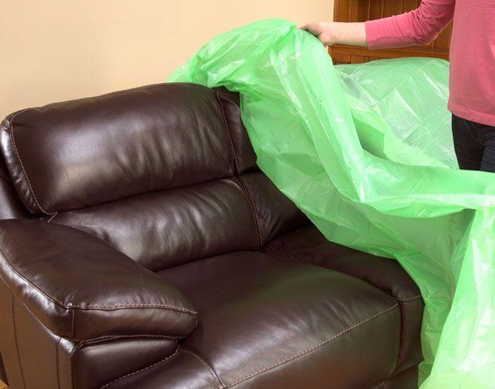 накрыть крупногабаритную мебель защитной пленкой