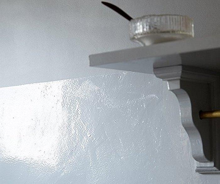 масляная краска на стене