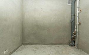 цементная штукатурка в ванной