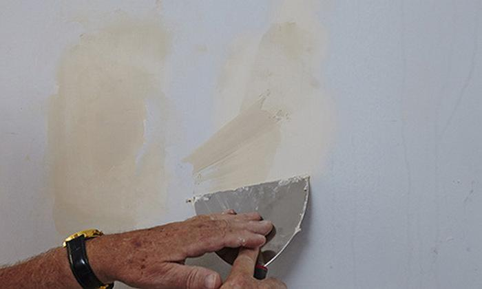 очистка поверхности стен