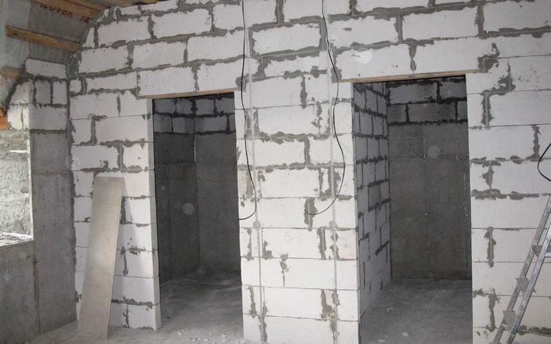 туалет и ванная из пенобетона